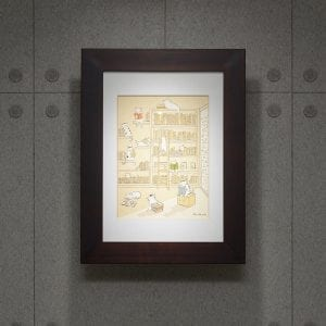 uPrint精緻木框+有色心無酸卡紙開窗